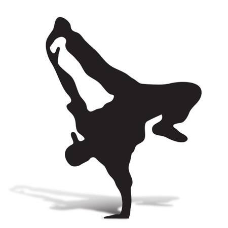 Break Dancer 3 Cut Out Silhouette