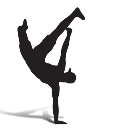 Break Dancer 1 Cut Out Silhouette