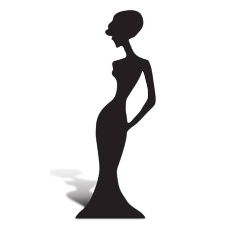 Modern Woman Cut Out Silhouette