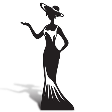 Elegant Lady Cut Out Silhouette