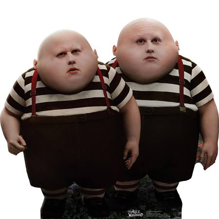 Tweedle Dee and Tweedle Dum Life Size Stand Up