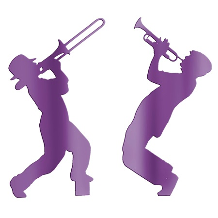 Purple Brass Players Silhouettes Kit