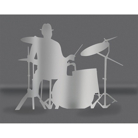 Silver Drummer Silhouette Kit