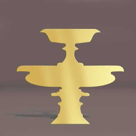 Gold Wide Fountain Silhouette Kit