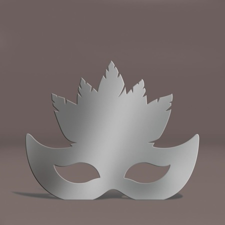 Silver Feather Mask Silhouette Kit