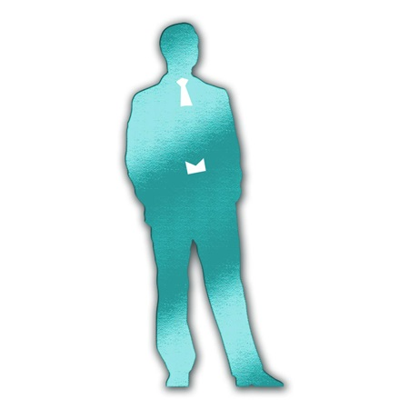 Teal Sophisticated Man Die-cut Silhouette Kit