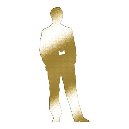 Gold Sophisticated Man Die-cut Silhouette Kit