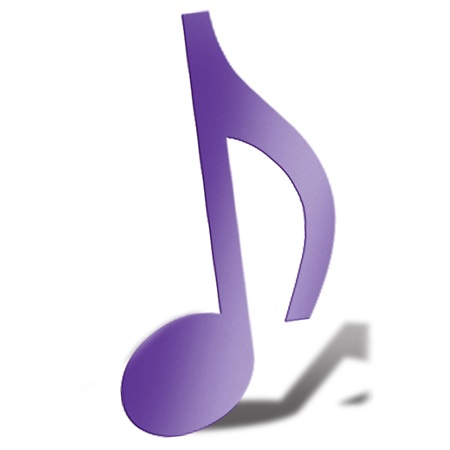 Purple Eighth Note Silhouette