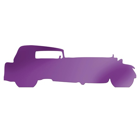 Purple Classic Stretch 2 Car Silhouette