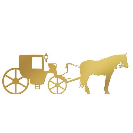 Gold Horse and Carriage Silhouette Kit