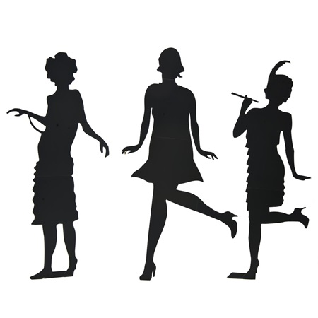 Won't You Charleston with Me Silhouettes Kit (set of 3)