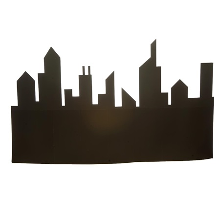 Black Capitol Structures Silhouettes Kit (set of 3)
