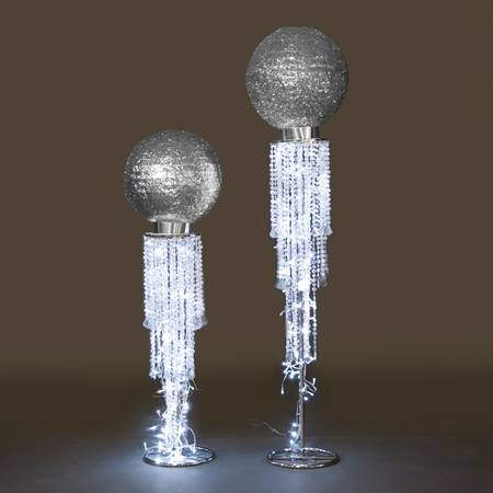 Majestic Silver Orb Stands Kit (set of 2)