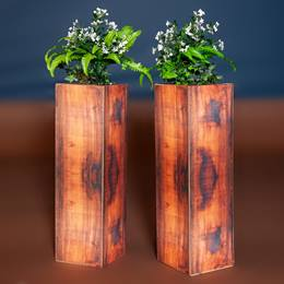 Florals and Foliage Tall Plant Stands Kit (set of 2)