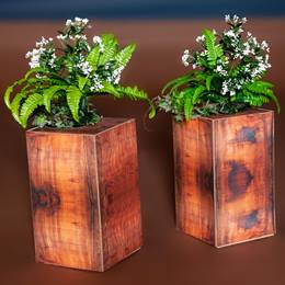 Florals and Foliage Short Plant Stands Kit (set of 2)