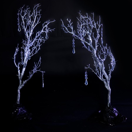 Glitter Gala Silver Branches Kit (set of 2)