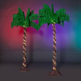 Caribbean Beat Palm Trees Kit (set of 2)