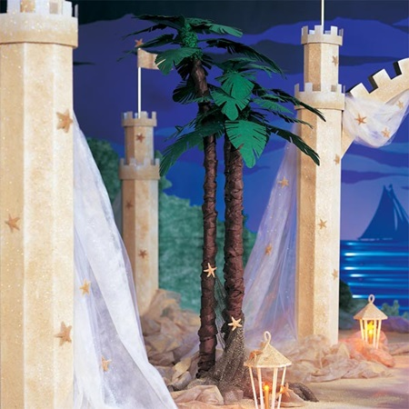 9 ft. Lush Palm Trees Kit (Set of 2)