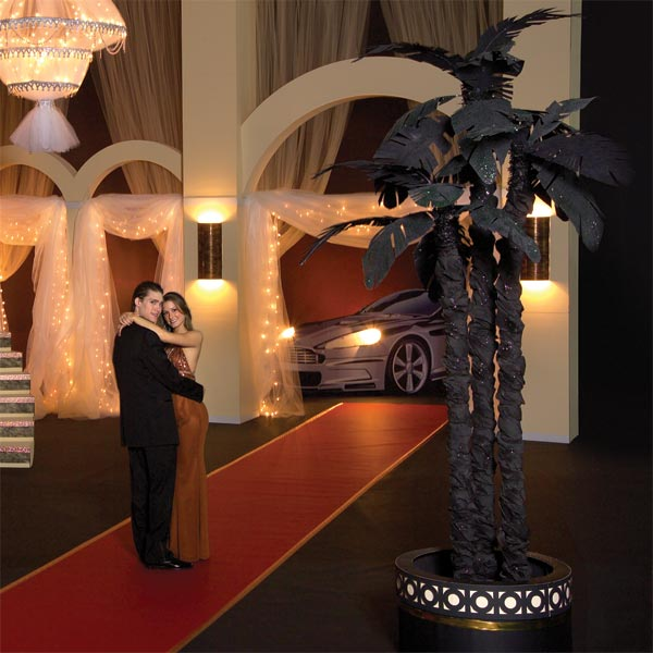 9 ft. Covert Black Palm Trees Kit (Set of 2)