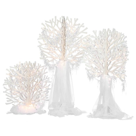 White Night Wonderland Trees Kit (set of 4)