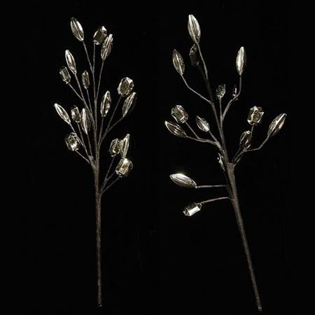 Silver Beaded Branch