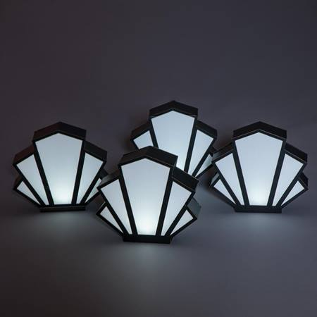 Art Deco Fan Centerpieces Kit (set of 4)