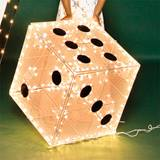 Jumbo White Wire Dice