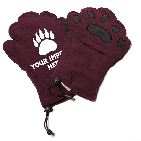 Custom Bear Hands Gloves, Adult Size