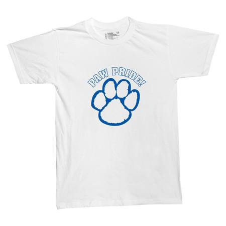 Paw Pride Adult T-Shirt  - blue