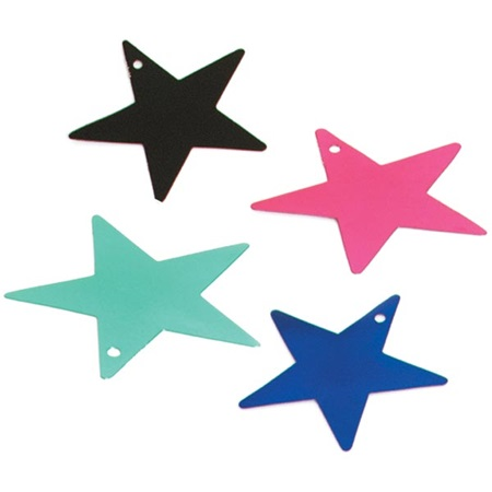 5 in Foil Star 12 Pack