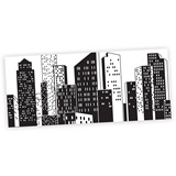 Cityscape Black and White Mural