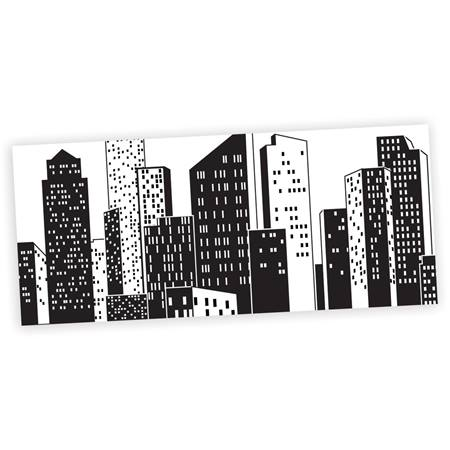 Cityscape black and white mural anderson 39 s for Black white mural