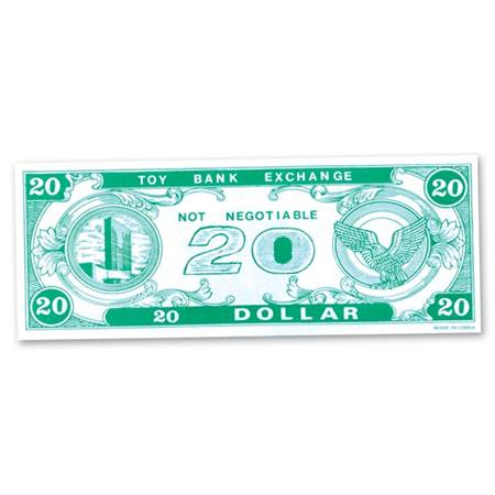 Play Money - $20 Bills - 200 per pkg