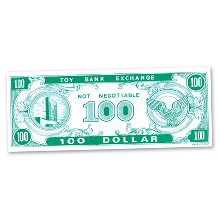 Play Money - $100 Bills - 1000 per pkg