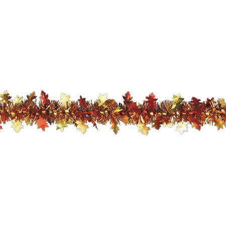 Metallic Garland Autumn Leaves