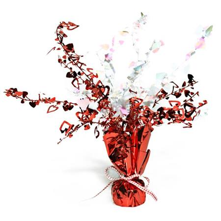 Red/White Heart Gleam 'N Burst Centerpiece