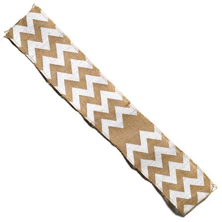 "Chevron Burlap Fabric, 59"" x 20 yds"