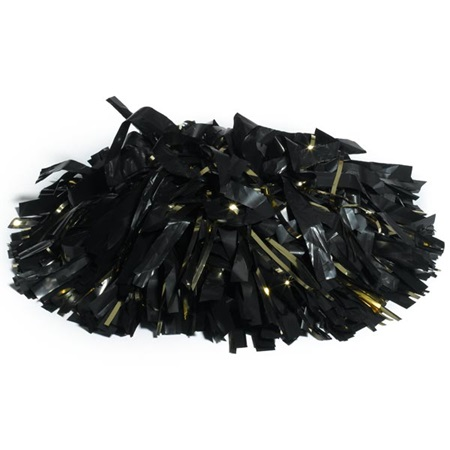 Plastic/Glitter Cheerleader Pom-Poms - 4 in. Two Colors with Baton Handle