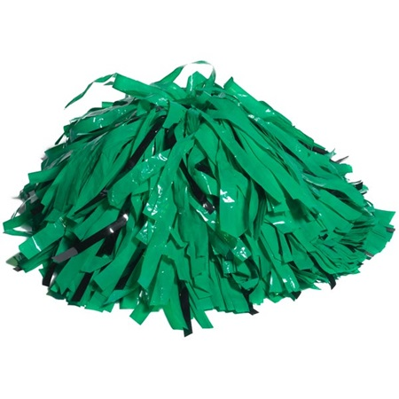 Wetlook/Glitter Cheerleader Pom-Poms - 4 in. Two Colors with Baton Handle