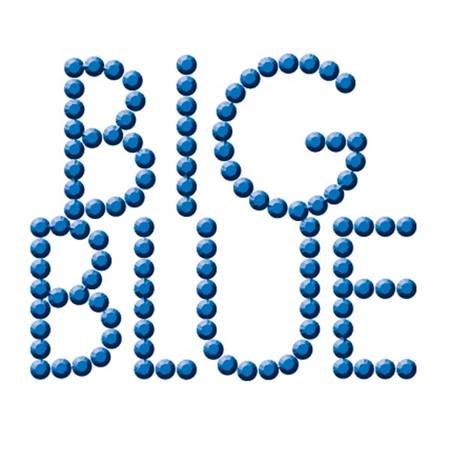 Bling  Temporary Tattoo - Big Blue