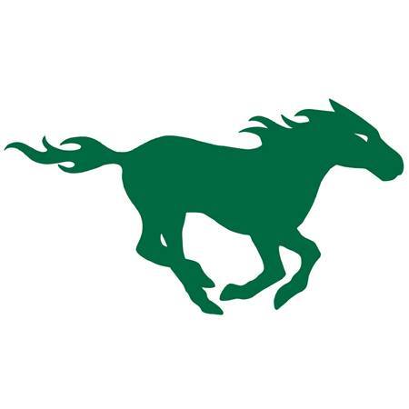Green Mustang Temporary Tattoo