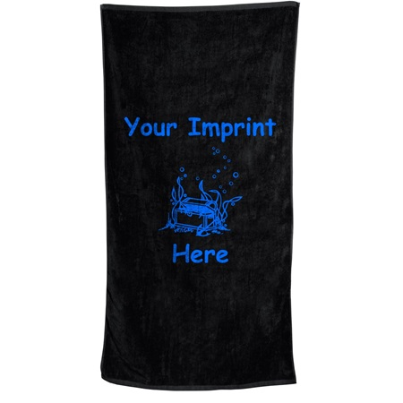 24 in. x 42 in. Small Colored Beach Towel