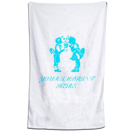 30 in. x 60 in. Large White Beach Towel