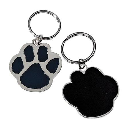 Paw Blue and Gold Keytag