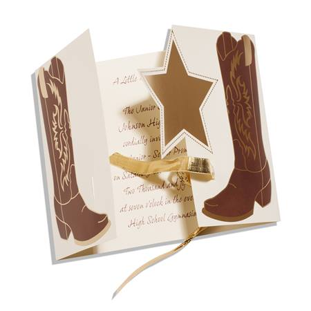 Kick Up Your Heels Cowboy Boots Invitation