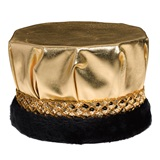 Royal Metallic Gold Crown with Black Fur