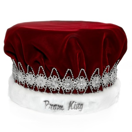 Prom King Regal Crown with Silver Band