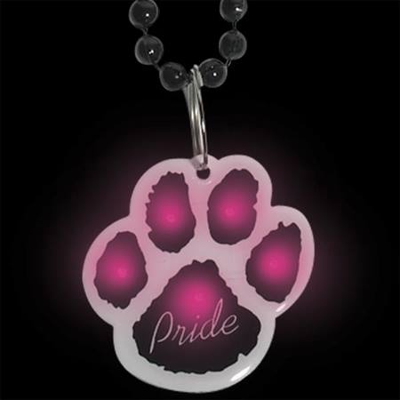 Blinking Paw Bead Necklace in  Black