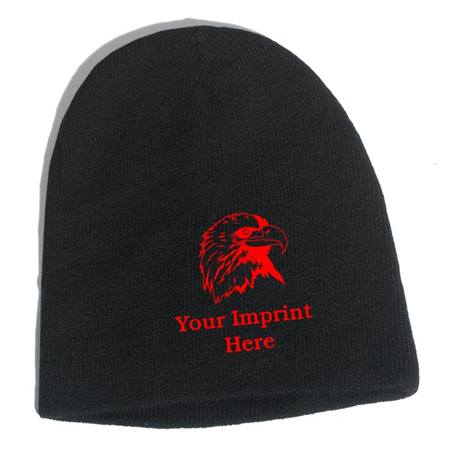 Embroidered Knit Ski Cap
