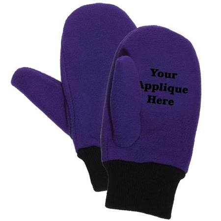 Custom Mittens - Embroidered Fleece